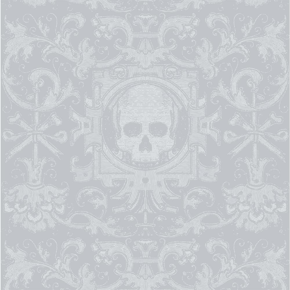 Mitchell Black Debut Collection Skull Box in Grey Premium Matte Wallpaper