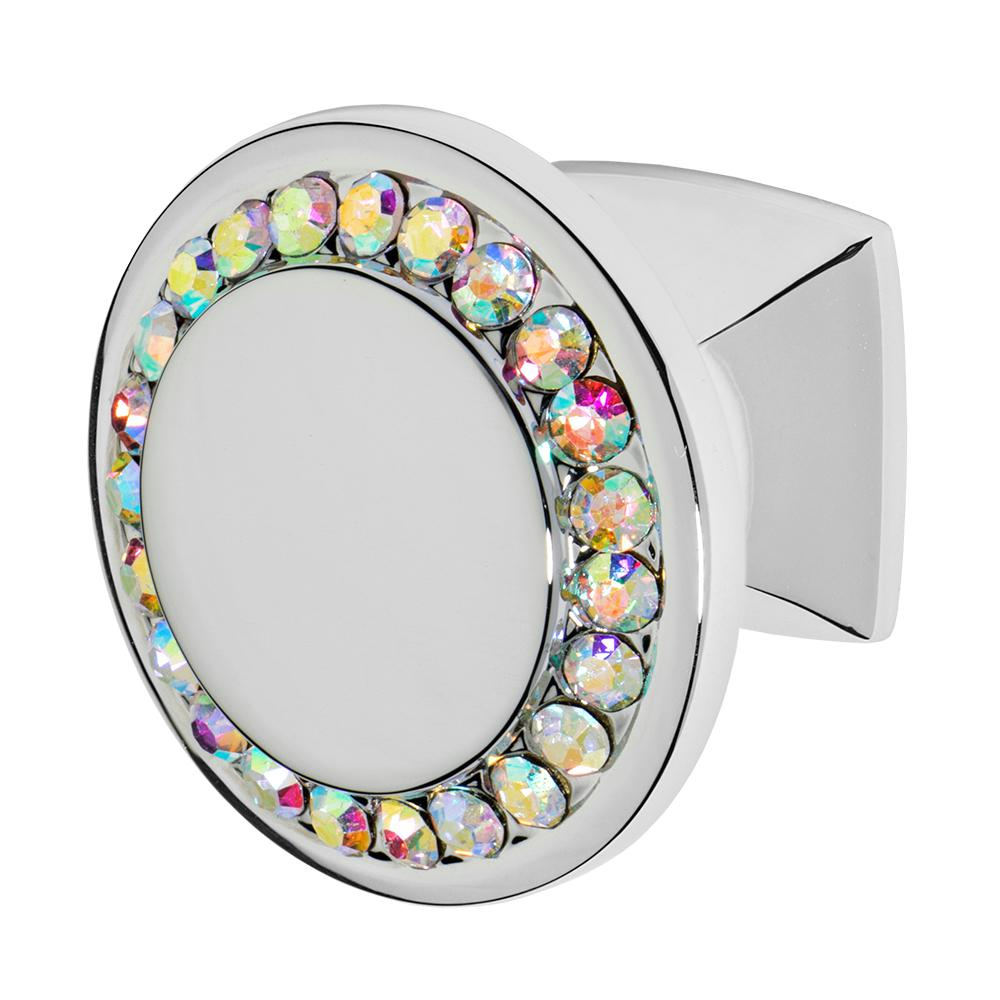 Wisdom Stone Isabel 1 1 4 In Chrome With Multi Color Crystal Cabinet Knob 4211CH MU
