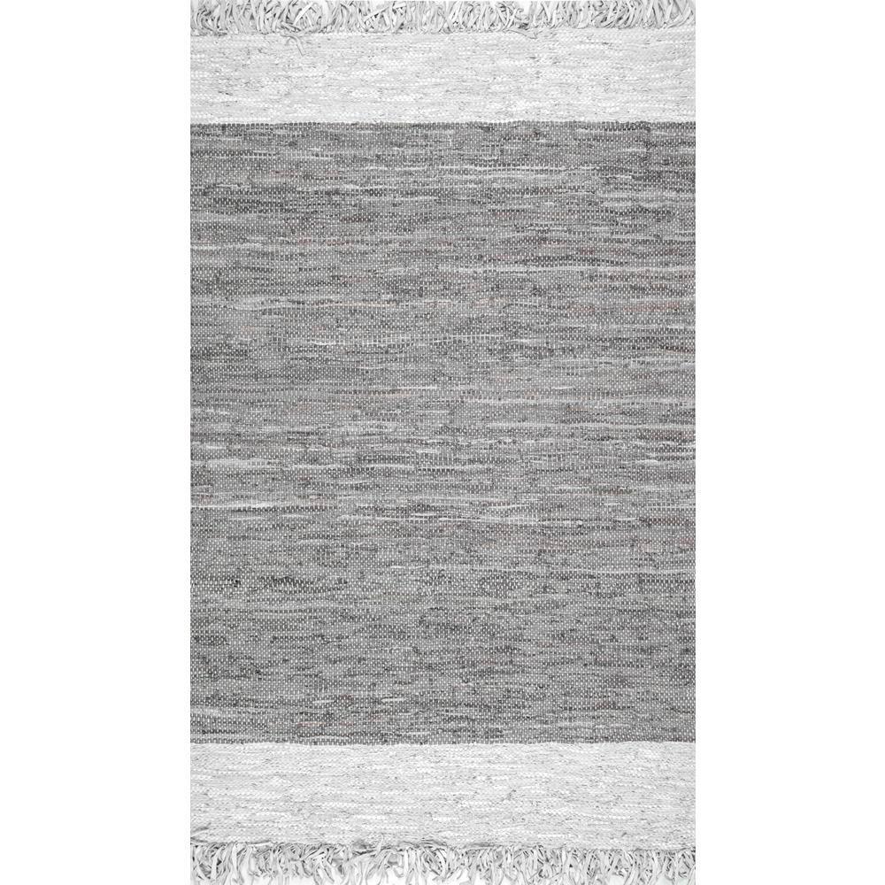 Otha Tassel Gray 4 ft. x 6 ft. Area Rug