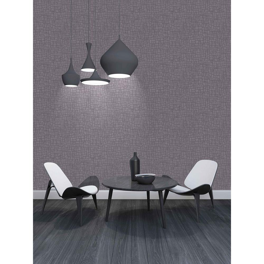 Etude Purple Geometric Wallpaper Sample