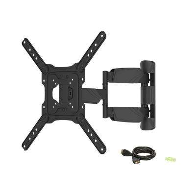 17 in. - 55 in. 77 lbs. LCD LED TV Wall Mount with 6 ft. 4K HDMI Cable, Black