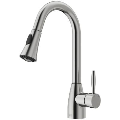 Aylesbury Single-Handle Pull-Down Sprayer Kitchen Faucet in Stainless Steel
