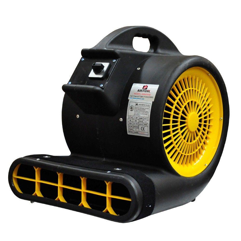 Air Foxx High Velocity 1 HP 3 Speed 3 Position 4000 CFM Air Mover / Carpet  Dryer / Floor Dryer