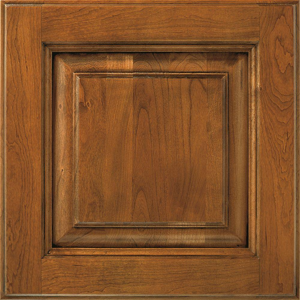 Thomasville In Plaza Cabinet Door Sample In Whiskey Black 772515399978 The Home Depot