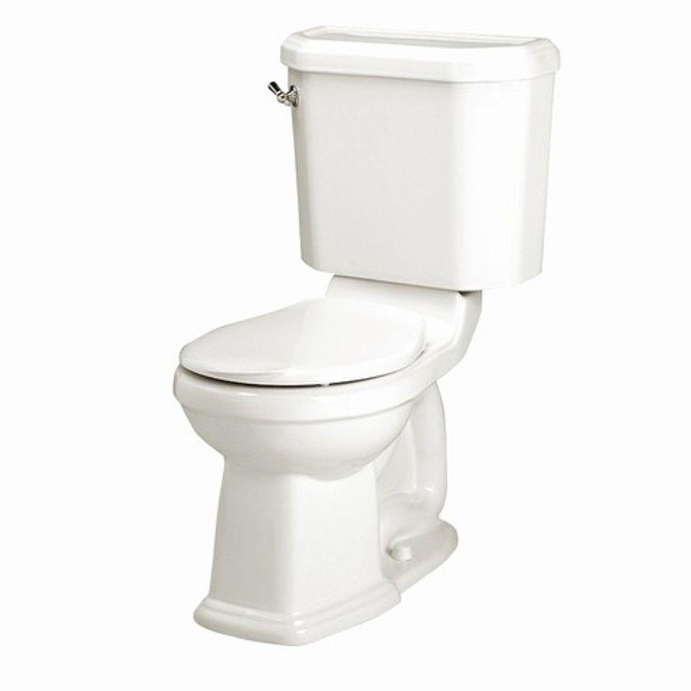 American Standard Portsmouth Champion 4 2-piece 1.6 GPF Right Height Round Toilet in White