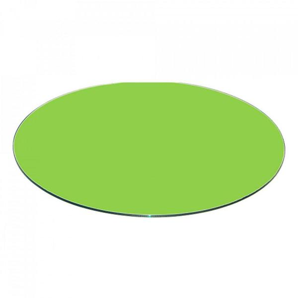 Fab Gl And Mirror 36 Inch Green Round Table Top Back Painted 3