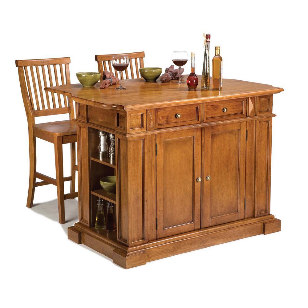 Internet #204337223. Home Styles Americana Distressed Cottage Oak Kitchen  Island ...
