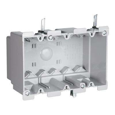 Slater Old Work Plastic 3-Gang Swing Bracket Switch and Outlet Box with Quick/Click