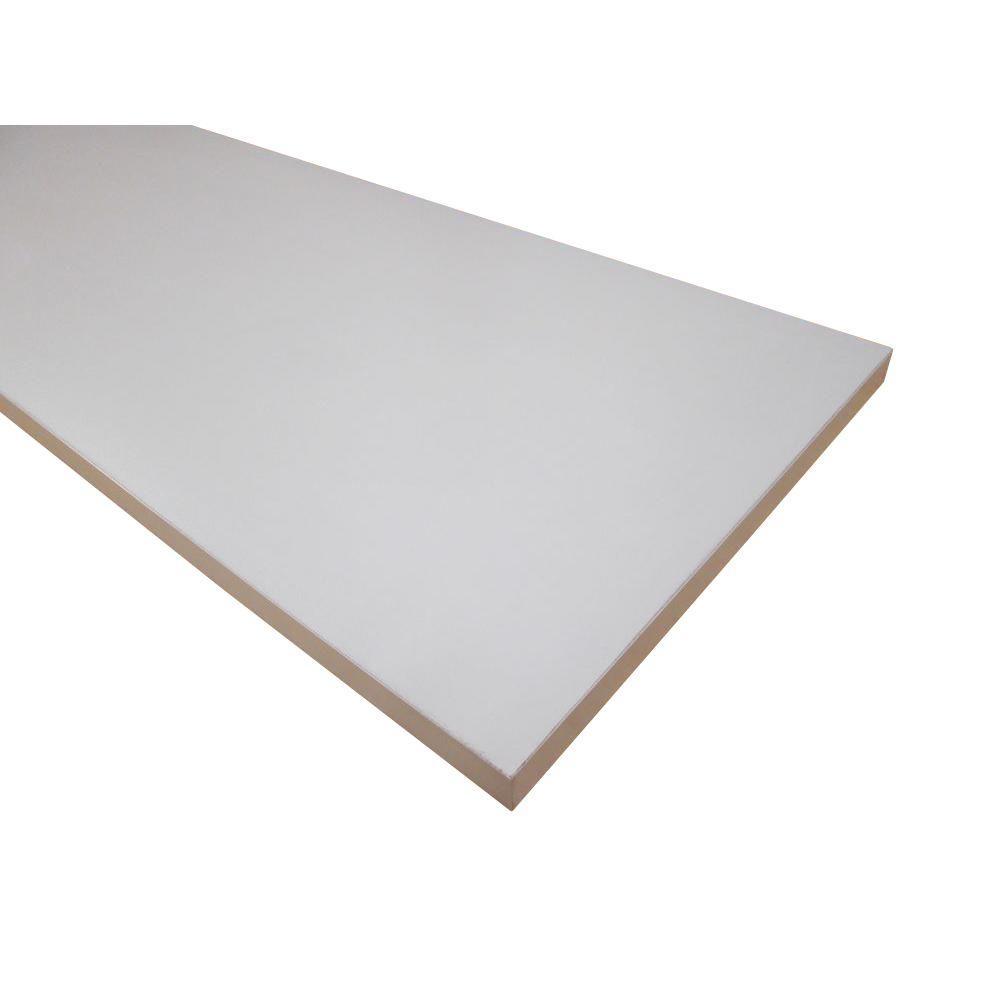 null 3/4 in. x 12 in. x 72 in. White Thermally-Fused Melamine Shelf