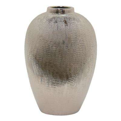 Silver Ceramic Decorative Vase