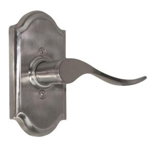Elegance Satin Nickel Right-Hand Premiere Half-Dummy Bordeau Door Lever