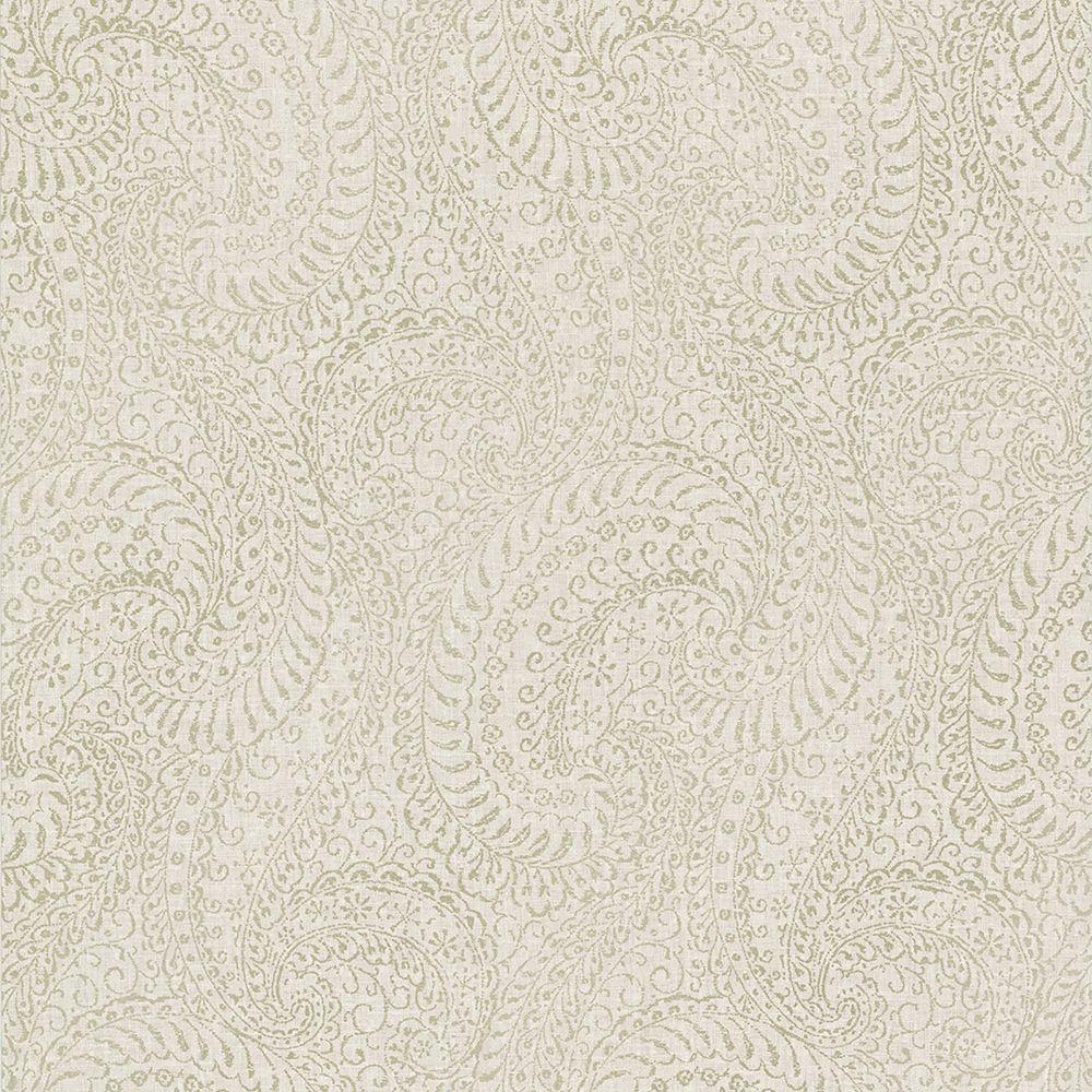 Kenneth James Daraxa Taupe Paisley Wallpaper 2618-21322