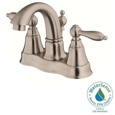 Fairmont 4 in. Centerset 2-Handle Bathroom Faucet in Brushed Nickel