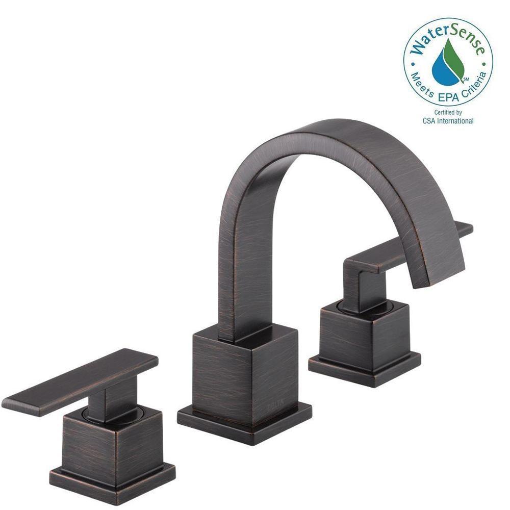 Vero 8 in. Widespread 2-Handle Bathroom Faucet with Metal Drain Assembly in Venetian Bronze