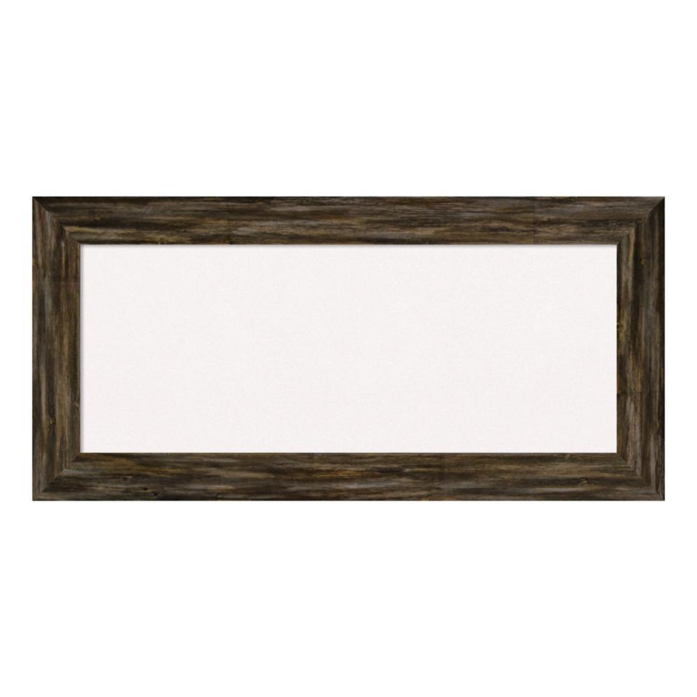 Fencepost Brown Narrow Framed White Cork Memo Board