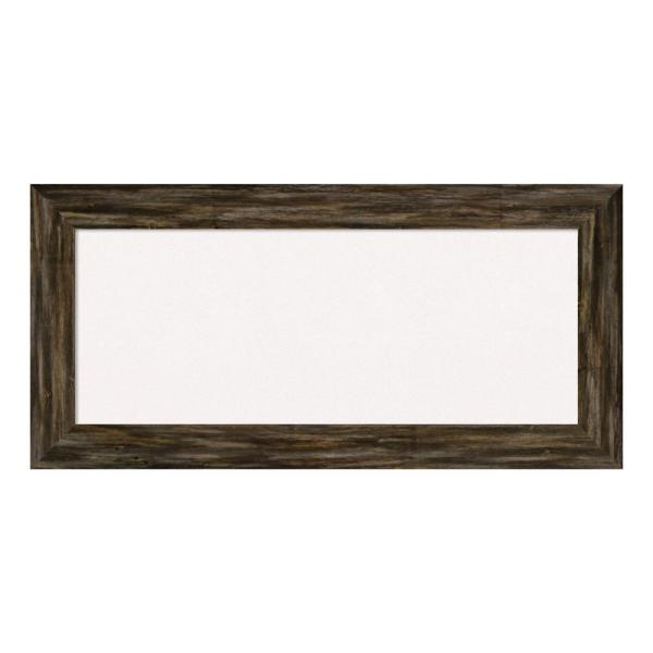 Amanti Art Fencepost Brown Narrow Framed White Cork Memo Board DSW4094260