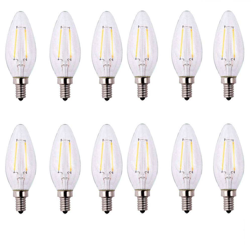 25-Watt Equivalent B11 Dimmable Energy Star Clear Filament Vintage Style LED