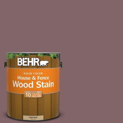 1 gal. #N120-6 Raisin in the Sun Solid Color House and Fence Exterior Wood Stain