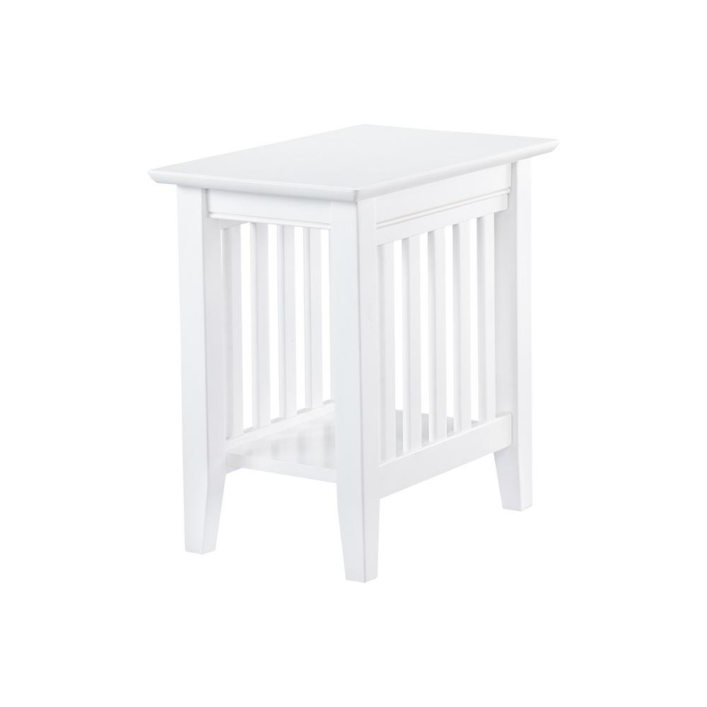 Mission White Chair Side Table