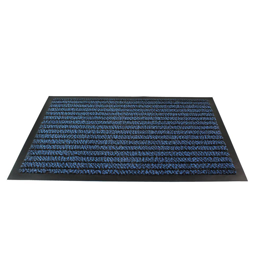 24 in. x 32 in. Rectangular Indoor Entrance Mat in Blue