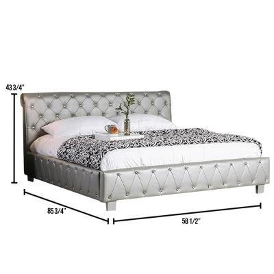 Juilliard Silver Full Size Bed