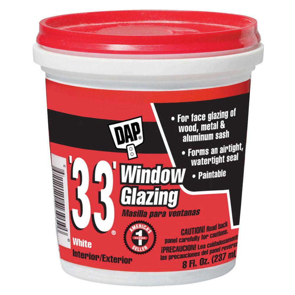 33 8 oz. White Ready-to-use Window Glazing (12-Pack)