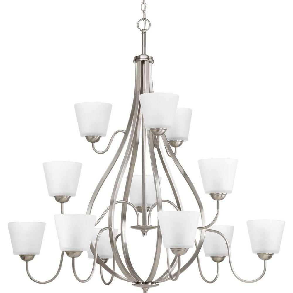 Progress Lighting Arden Collection 12-Light Brushed Nickel