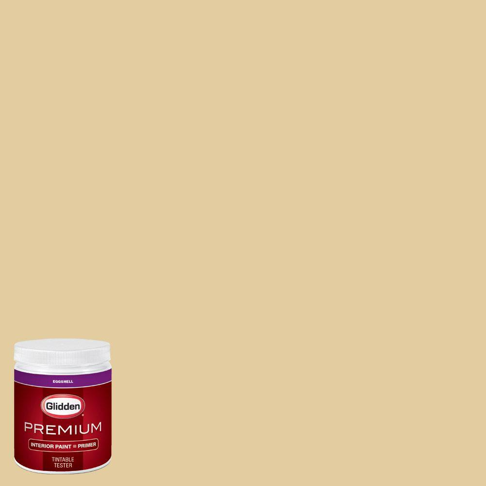 Glidden Premium 8 Oz Hdgy62d Golden Heirloom Eggshell Interior Paint Sample With Primer