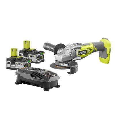 18-Volt ONE+ Cordless Lithium-Ion Brushless Grinder Kit with (2) 4.0Ah Batteries and Charger