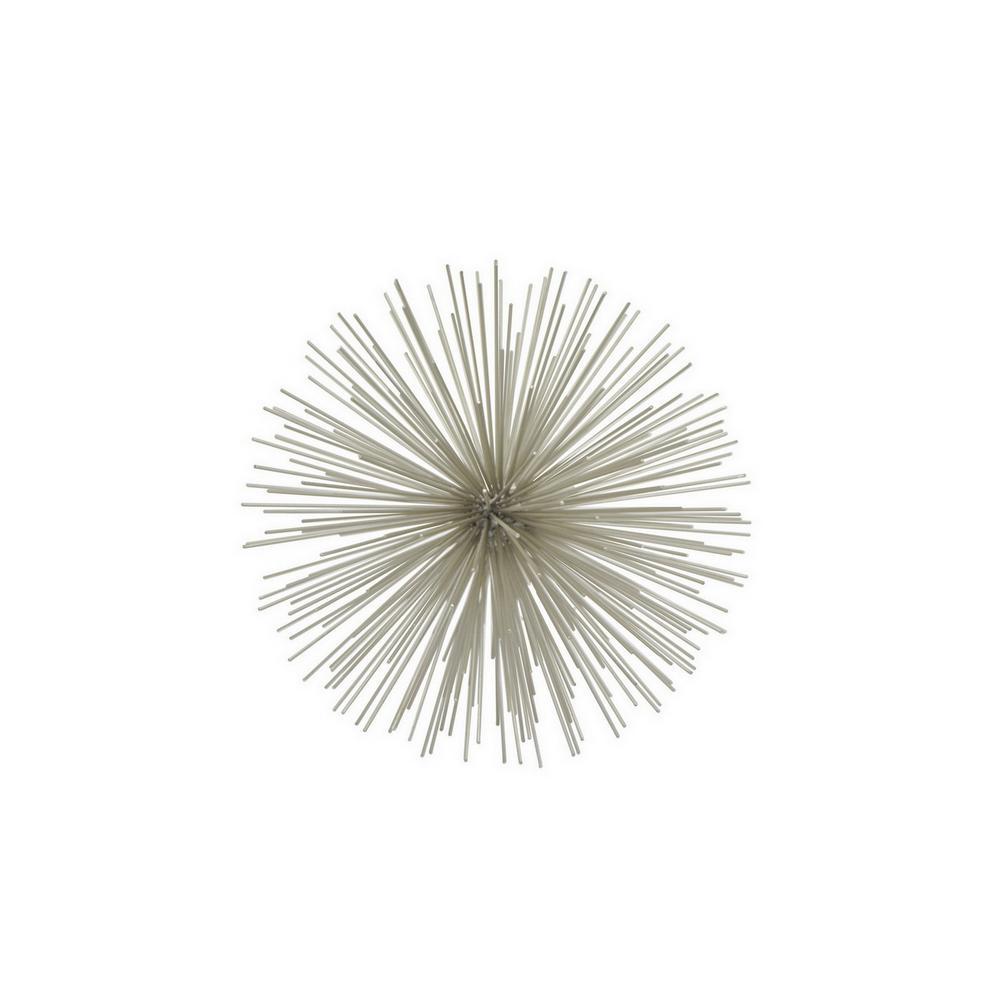 9 in. Silver Pointe Sphere Silver
