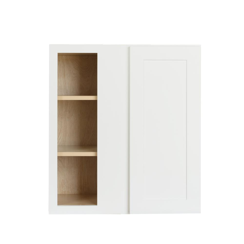 Bremen Ready To Assemble 27x36x12 In. Wall Blind Corner Cabinet With  Adjustable Shelves In White