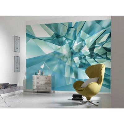 Abstract 3D Crystal Cave Wall Mural