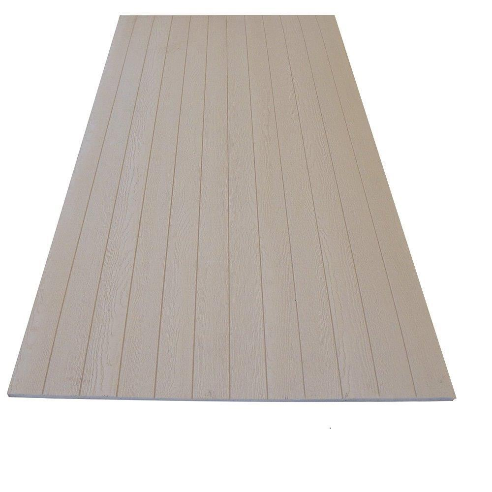 Duratemp 0 344 In X 48 In X 96 In Primed 4 Oc V Groove Plywood Siding Panel 1040594 The Home Depot