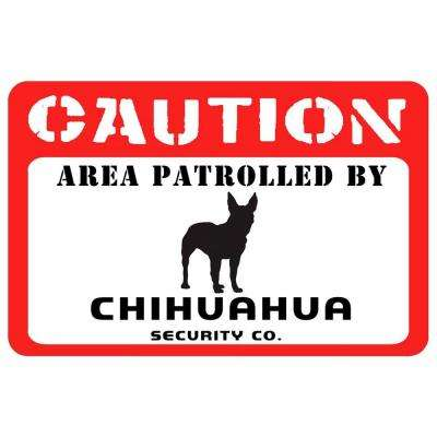 Printed Caution: Chihuahua 17.5 in. x 26.5 in. Pet Mat