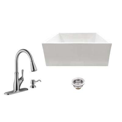 white all in one kitchen sinks kitchen the home depot rh homedepot com