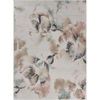 Meadow Distress Multi-color 7 ft. 9 in. x 9 ft. 5 in. Floral Garden Area Rug