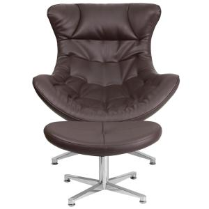 internet flash furniture brown leather cocoon