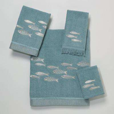 Nantucket 4-Piece Bath Towel Set in Mineral