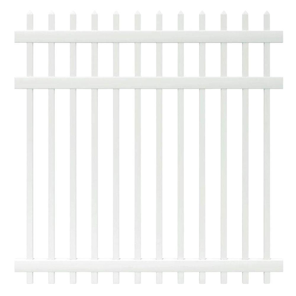 Veranda Manchester 6 ft. H x 6 ft. W White Vinyl Spaced Picket Fence Panel - Unassembled