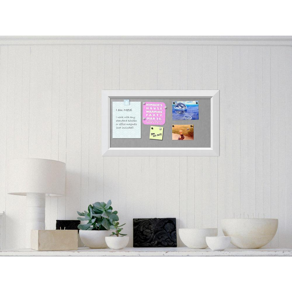 Amanti Art Blanco White Wood 27 in. W x 15 in. H Framed Magnetic ...