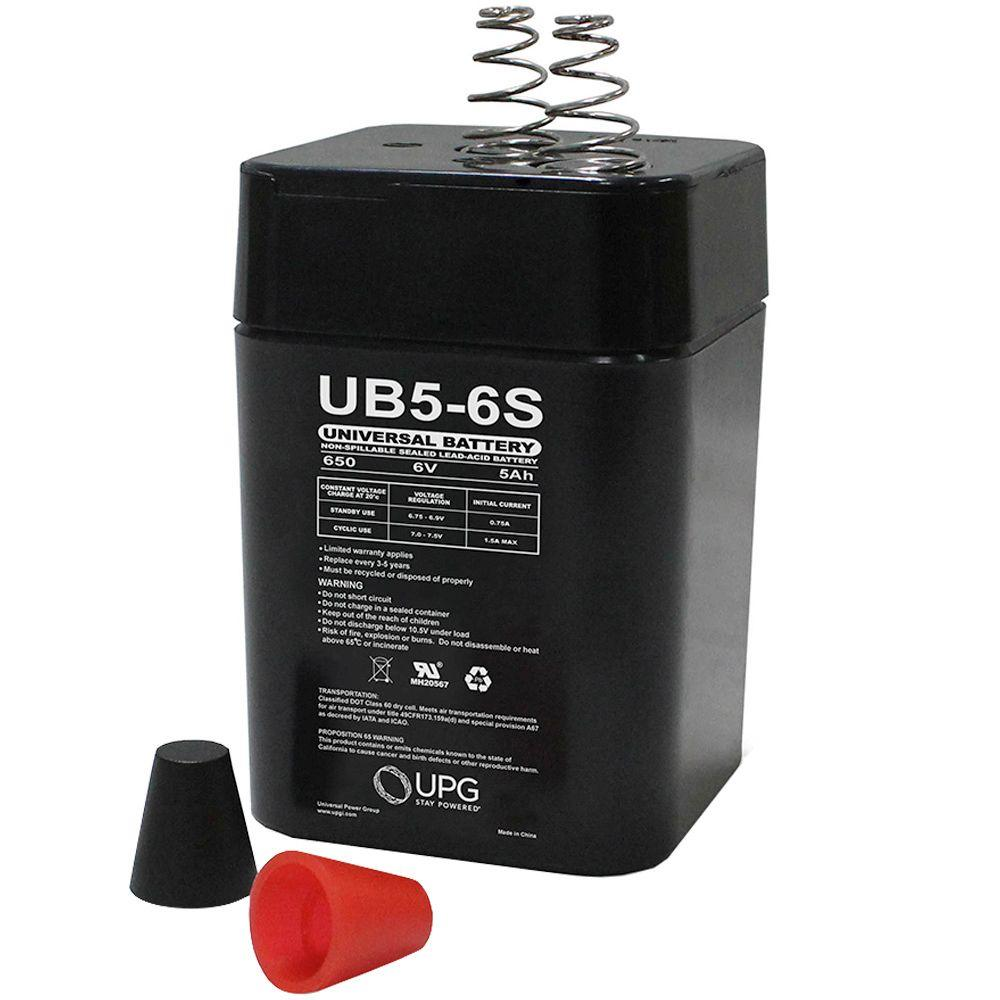 upg sla lantern 6 volt s2 spring terminal battery ub650s lantern the home depot. Black Bedroom Furniture Sets. Home Design Ideas