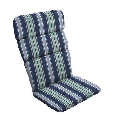 20 in. x 17 in. Sapphire Aurora Stripe Outdoor Adirondack Chair Cushion
