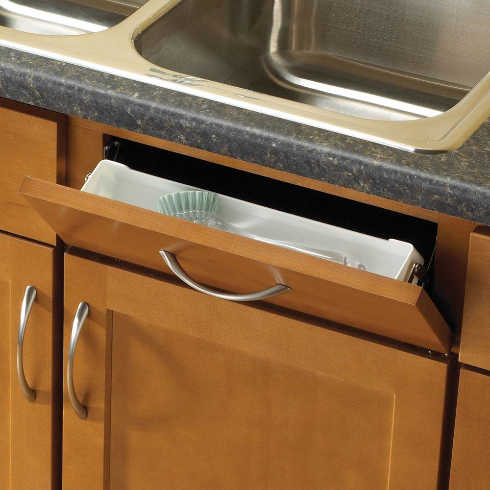 Real Solutions for Real Life 14 in. White Sink Front Tray