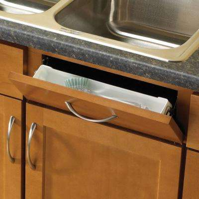 14 in. White Sink Front Tray