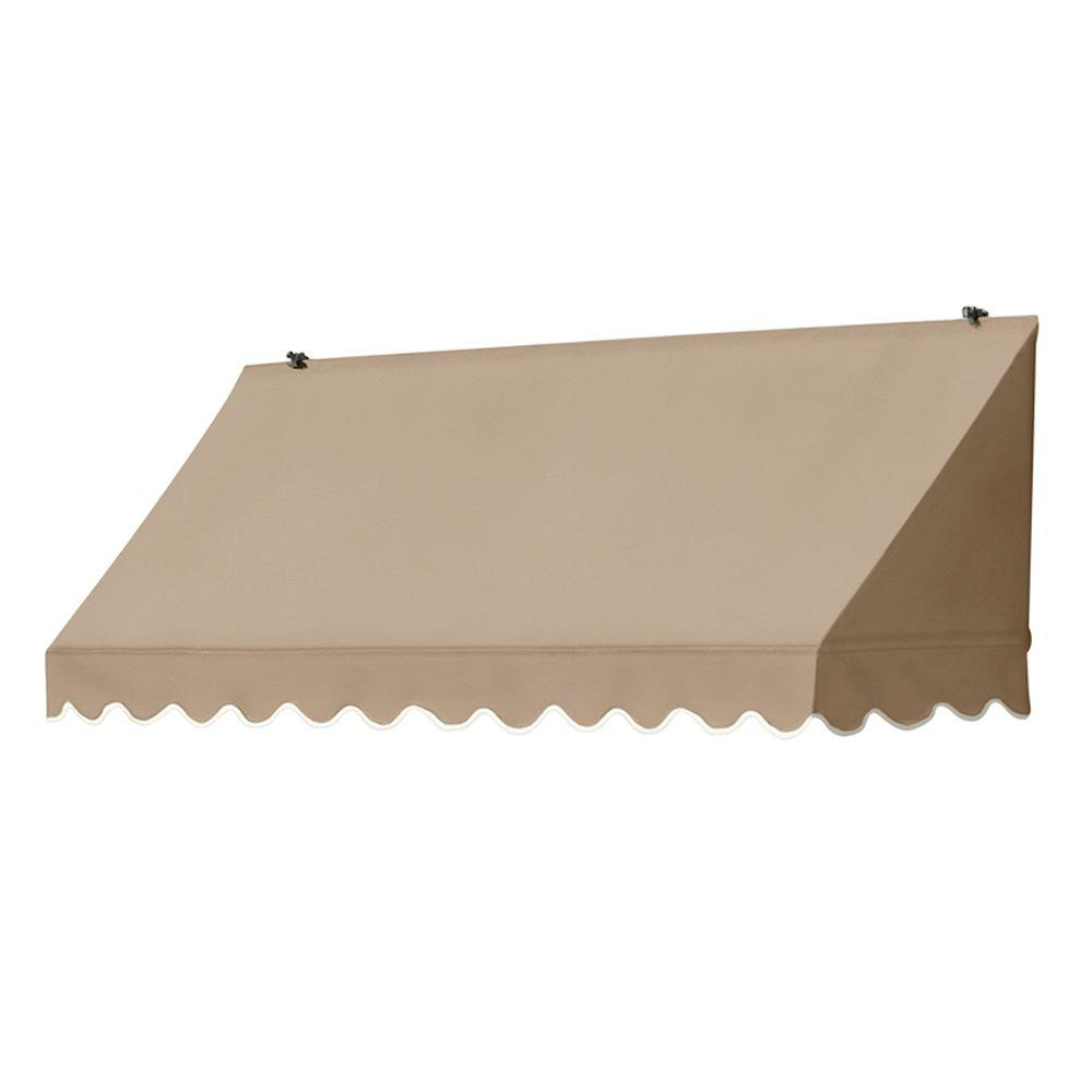 Awnings in a Box 6 ft. Traditional Manually Retractable Awning (26.5 in. Projection) in Sand