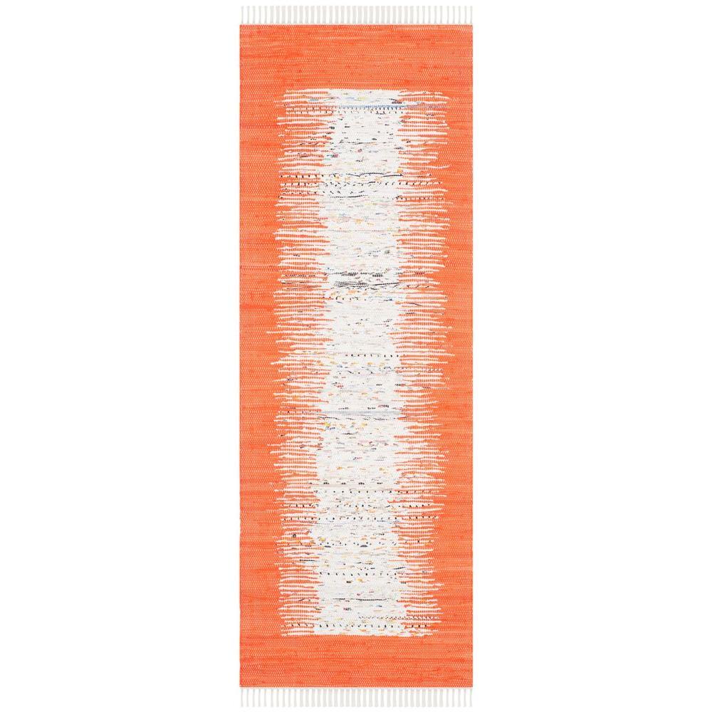 Montauk Ivory/Orange 2 ft. 3 in. x 9 ft. Runner