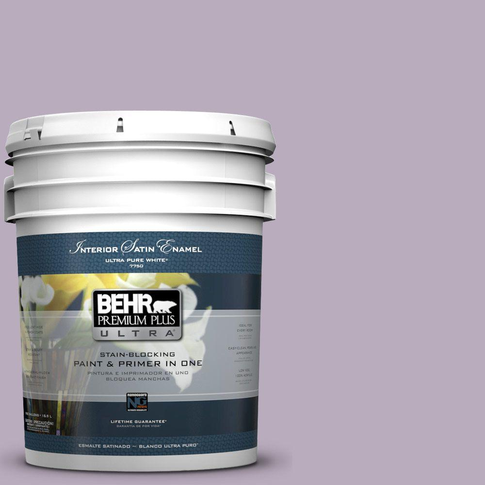 5-gal. #HDC-SP14-12 Exclusive Violet Satin Enamel Interior Paint