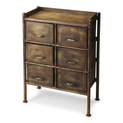 Butler Cameron 6-Drawer Bronze Industrial Chic Chest of Drawers