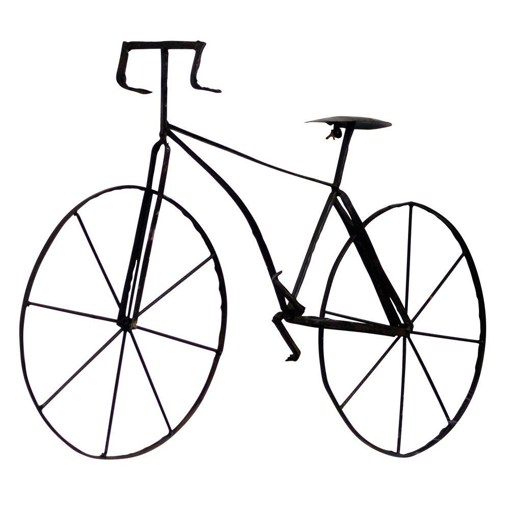 Home Decorators Collection 39.5 in. W Bicycle Wall Sculpture Rustic Brown