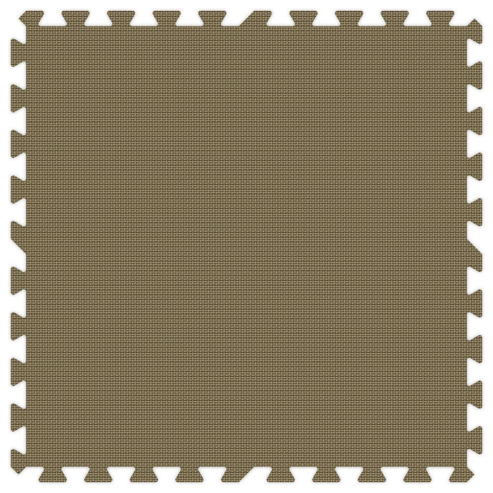 Brown 24 in. x 24 in. Comfortable Mat (100 sq.ft. /